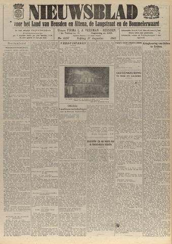 Nieuwsblad het land van Heusden en Altena de Langstraat en de Bommelerwaard 1943-08-27