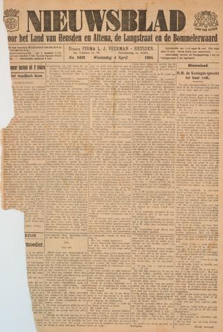 Nieuwsblad het land van Heusden en Altena de Langstraat en de Bommelerwaard 1934-04-04