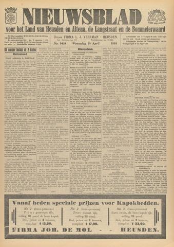 Nieuwsblad het land van Heusden en Altena de Langstraat en de Bommelerwaard 1934-04-25