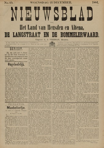 Nieuwsblad het land van Heusden en Altena de Langstraat en de Bommelerwaard 1881-12-21