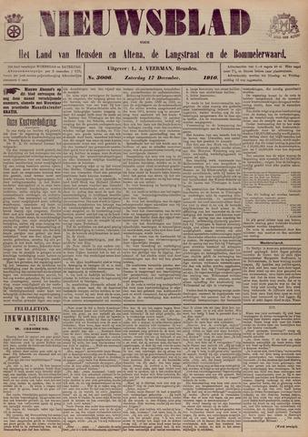 Nieuwsblad het land van Heusden en Altena de Langstraat en de Bommelerwaard 1910-12-17