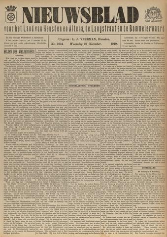 Nieuwsblad het land van Heusden en Altena de Langstraat en de Bommelerwaard 1919-11-26
