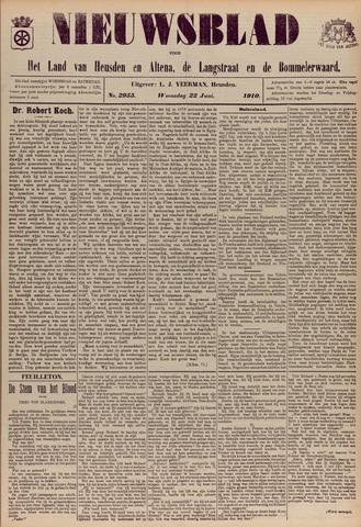 Nieuwsblad het land van Heusden en Altena de Langstraat en de Bommelerwaard 1910-06-22