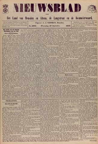 Nieuwsblad het land van Heusden en Altena de Langstraat en de Bommelerwaard 1910-09-21