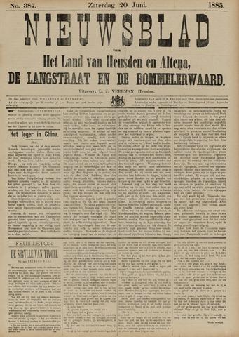 Nieuwsblad het land van Heusden en Altena de Langstraat en de Bommelerwaard 1885-06-20