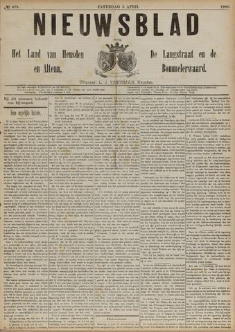 Nieuwsblad het land van Heusden en Altena de Langstraat en de Bommelerwaard 1890-04-05