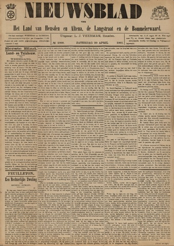 Nieuwsblad het land van Heusden en Altena de Langstraat en de Bommelerwaard 1901-04-20