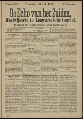 Echo van het Zuiden 1892-07-13