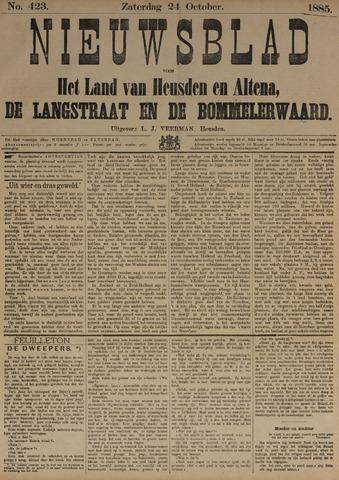 Nieuwsblad het land van Heusden en Altena de Langstraat en de Bommelerwaard 1885-10-24