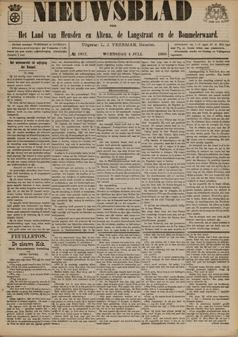 Nieuwsblad het land van Heusden en Altena de Langstraat en de Bommelerwaard 1900-07-04
