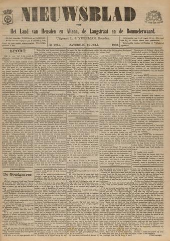 Nieuwsblad het land van Heusden en Altena de Langstraat en de Bommelerwaard 1903-07-18