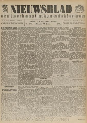 Nieuwsblad het land van Heusden en Altena de Langstraat en de Bommelerwaard 1921-04-27