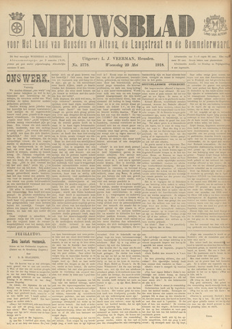 Nieuwsblad het land van Heusden en Altena de Langstraat en de Bommelerwaard 1918-05-29