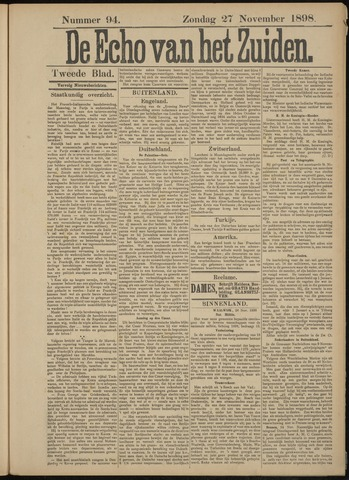 Echo van het Zuiden 1898-11-27