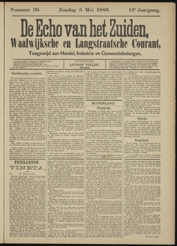Echo van het Zuiden 1889-05-05