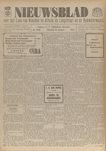Nieuwsblad het land van Heusden en Altena de Langstraat en de Bommelerwaard 1919-01-18