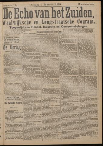 Echo van het Zuiden 1915-02-07