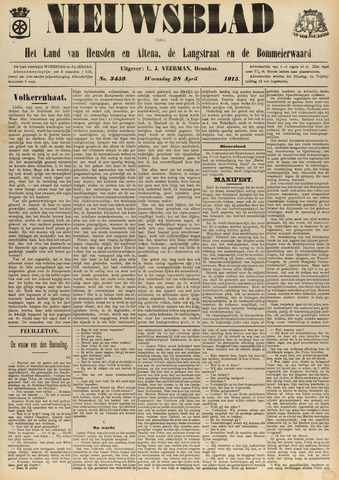 Nieuwsblad het land van Heusden en Altena de Langstraat en de Bommelerwaard 1915-04-28