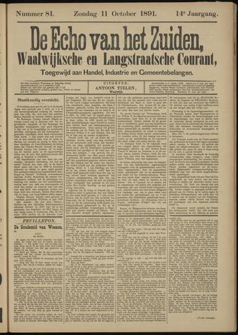 Echo van het Zuiden 1891-10-11