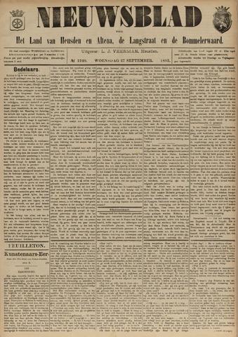 Nieuwsblad het land van Heusden en Altena de Langstraat en de Bommelerwaard 1893-09-27