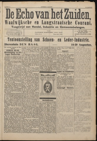 Echo van het Zuiden 1922-07-15