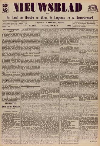 Nieuwsblad het land van Heusden en Altena de Langstraat en de Bommelerwaard 1910-04-20