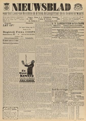 Nieuwsblad het land van Heusden en Altena de Langstraat en de Bommelerwaard 1929-02-22