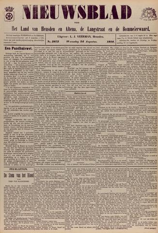 Nieuwsblad het land van Heusden en Altena de Langstraat en de Bommelerwaard 1910-08-24