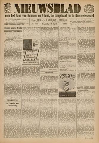 Nieuwsblad het land van Heusden en Altena de Langstraat en de Bommelerwaard 1936-04-15