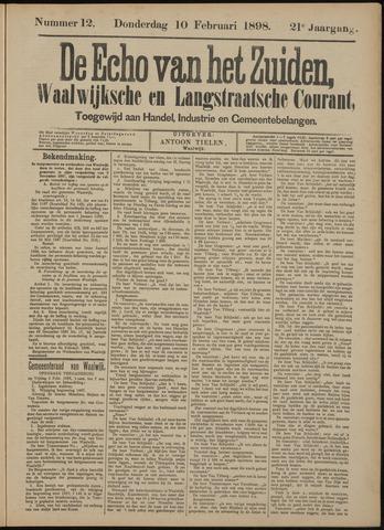 Echo van het Zuiden 1898-02-10