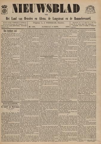 Nieuwsblad het land van Heusden en Altena de Langstraat en de Bommelerwaard 1899-09-09