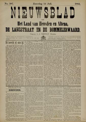 Nieuwsblad het land van Heusden en Altena de Langstraat en de Bommelerwaard 1883-07-14