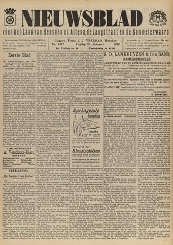 Nieuwsblad het land van Heusden en Altena de Langstraat en de Bommelerwaard 1925-02-20