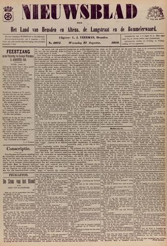 Nieuwsblad het land van Heusden en Altena de Langstraat en de Bommelerwaard 1910-08-31