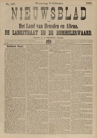Nieuwsblad het land van Heusden en Altena de Langstraat en de Bommelerwaard 1887-02-09