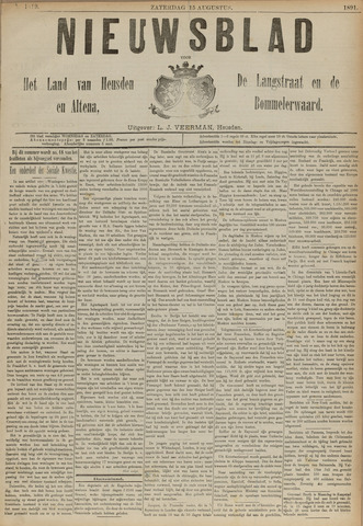 Nieuwsblad het land van Heusden en Altena de Langstraat en de Bommelerwaard 1891-08-15