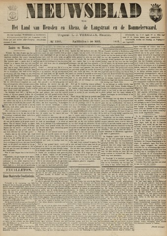 Nieuwsblad het land van Heusden en Altena de Langstraat en de Bommelerwaard 1893-05-20