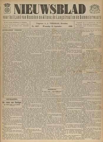Nieuwsblad het land van Heusden en Altena de Langstraat en de Bommelerwaard 1920-09-15