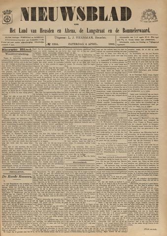 Nieuwsblad het land van Heusden en Altena de Langstraat en de Bommelerwaard 1903-04-04