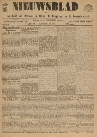Nieuwsblad het land van Heusden en Altena de Langstraat en de Bommelerwaard 1905-10-14