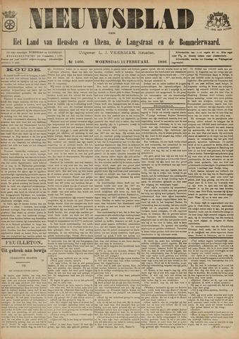 Nieuwsblad het land van Heusden en Altena de Langstraat en de Bommelerwaard 1896-02-12
