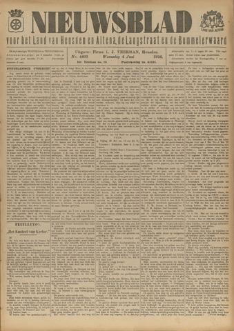 Nieuwsblad het land van Heusden en Altena de Langstraat en de Bommelerwaard 1924-06-04