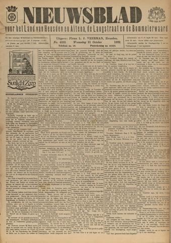 Nieuwsblad het land van Heusden en Altena de Langstraat en de Bommelerwaard 1922-10-11