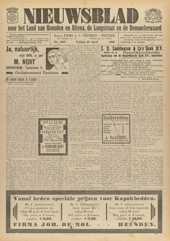 Nieuwsblad het land van Heusden en Altena de Langstraat en de Bommelerwaard 1934-04-20