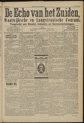 Echo van het Zuiden 1923-10-10