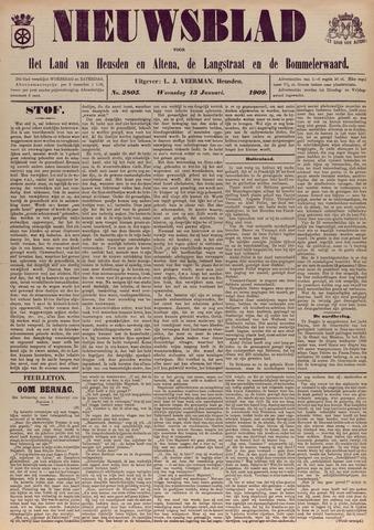 Nieuwsblad het land van Heusden en Altena de Langstraat en de Bommelerwaard 1909-01-13