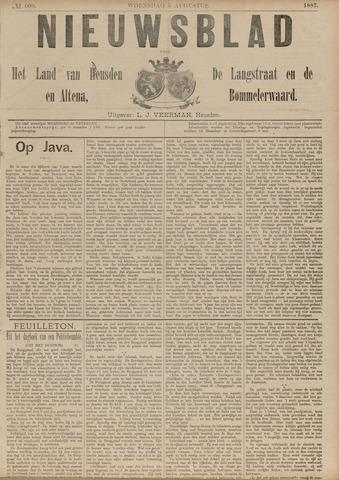 Nieuwsblad het land van Heusden en Altena de Langstraat en de Bommelerwaard 1887-08-03