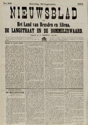 Nieuwsblad het land van Heusden en Altena de Langstraat en de Bommelerwaard 1882-09-30