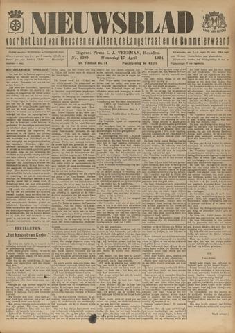 Nieuwsblad het land van Heusden en Altena de Langstraat en de Bommelerwaard 1924-04-17