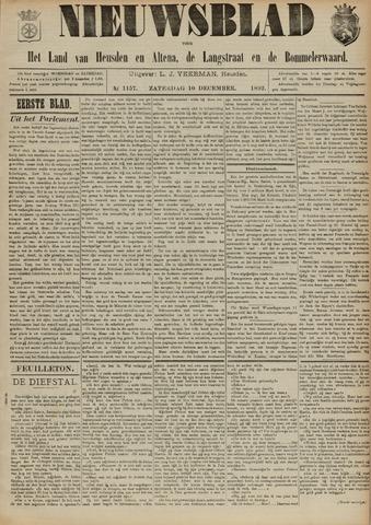 Nieuwsblad het land van Heusden en Altena de Langstraat en de Bommelerwaard 1892-12-10